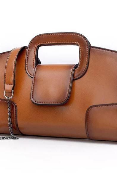 Small Brown Leather Bags for Women Handsome Brown Leather Pouch Brown Leather Shoulder Bags
