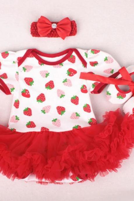 Strawberry Baby Dresses 1st Birthday Dresses Strawberry Baby Girls Clothing Set Strawberry Birthday Theme