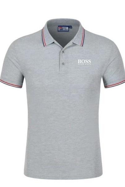 Rsslyn Gray T-Shirts for Teenage Boys and Men RSS8-382021 New Gray Clothes Men's Polo Shirt