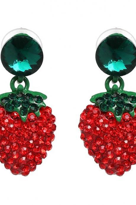 Strawberry Stud Earrings for Women-Strawberry Lovers Jewelries