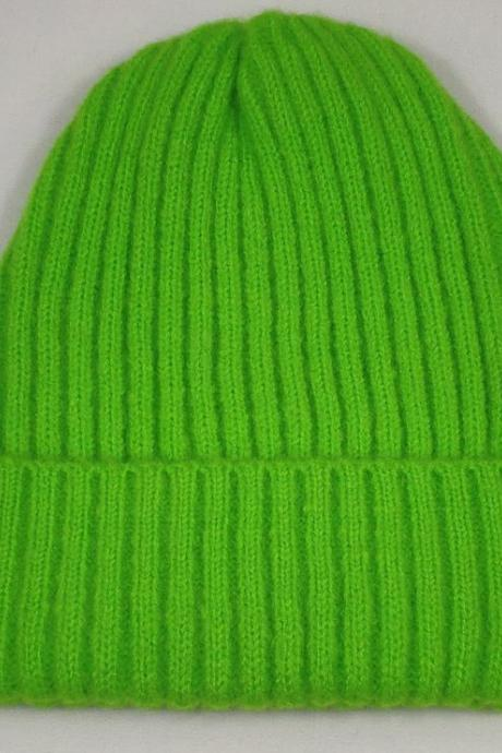 Knitted Green Beanies for Women-Green Hats for Men-Green Winter Hats for Tween Girls and Boys