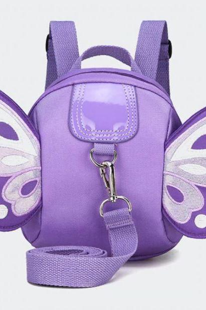 Purple Backpack Leash for Super Active Babies Airport Anti-Lost Baby Kindergarten Baby Girls Backpacks