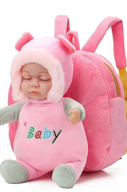 Birthday Gift for Grandchild Pink Baby Backpack Baby On Board-Nursery Stuff Dolls for Baby Girls-Baby Shower Gifts Ideas