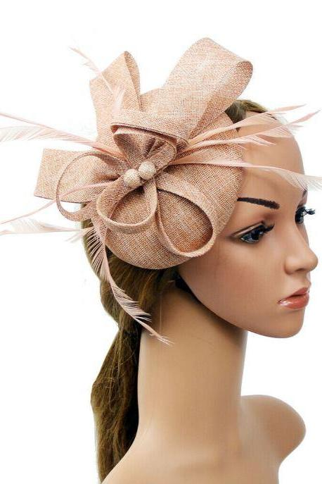Affordable Fascinators for Women Pink Headpieces for Flower Girls Pink Sinamay Headpieces for Bridesmaids Headwear