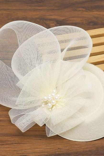 Affordable Fascinators for Women Ivory Cream Headpieces for Flower Girls Headpieces for Bridesmaids Headwear