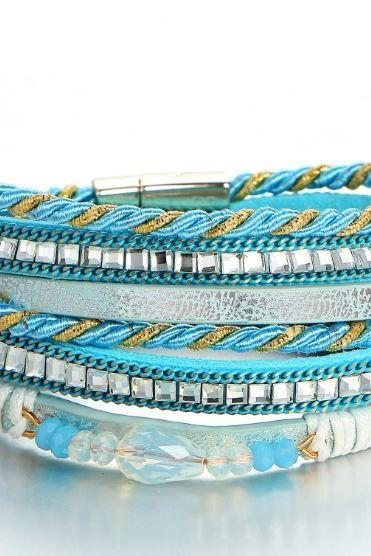 50% Off Multilayers Tuquoise Bangles and Bracelets for Women All Match Outfit Affordable Jewelries for Women