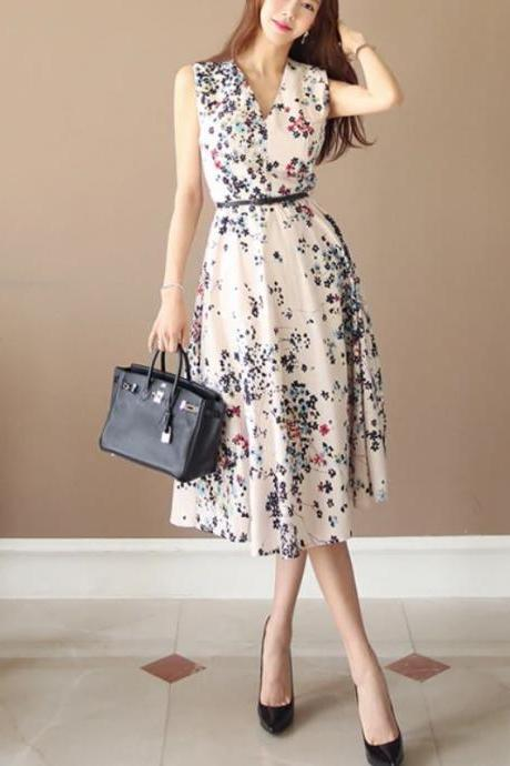 35% Off New Floral Dresses Runaway Club Fashion for Women Retro Dresses Week End Casual Fashion Dresses