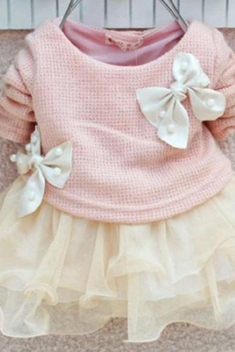 12-24Months Pink Dress for Baby Girls Sweater Dress Pink Tutu Dress for Toddler Girls Dresses