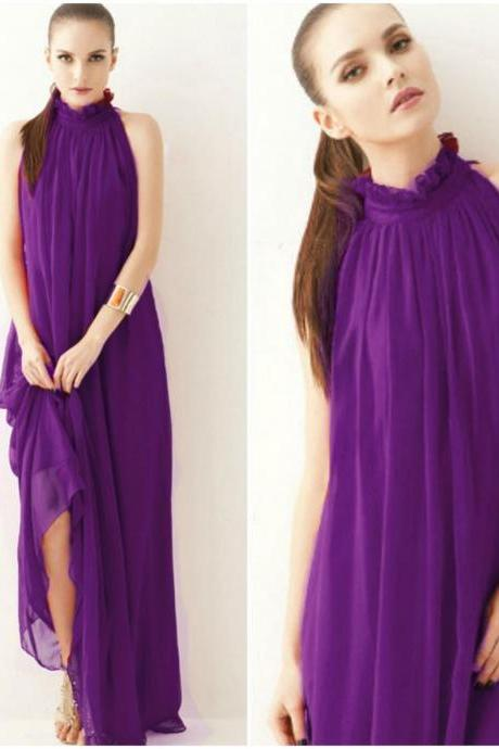 Purple Maxi for Women High Quality Purple Summer Dress