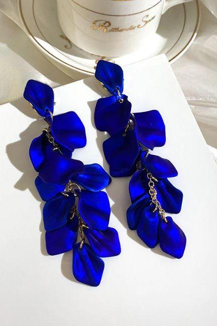 Free Shipping Royal Blue Earrings for Women Royal Blue Dangling Earrings New Jewelries 2020 Fashion Earrings for Women