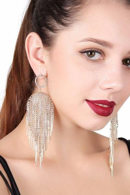 Fashion Earrings for Women Long Chandelier Golden Earrings for Women New Dangling Earrings