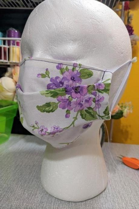 2pcs Floral Face Mask RudelynsSariSariStore.com Reversible Mask for Women Flower Prints Pattern Washable Mask with Filter Pocket