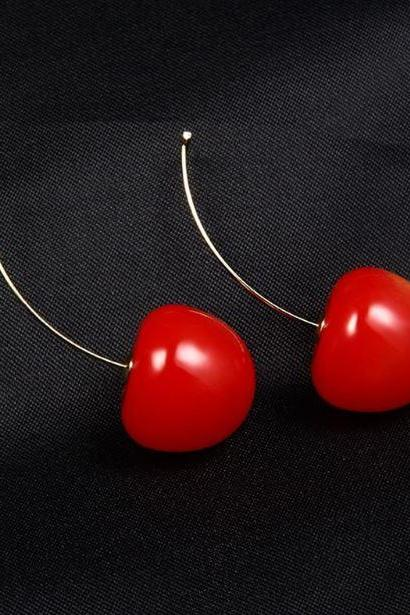 RSS Boutique BUY ONE TAKE ONE Earrings Yummilicious Beautiful Red Sweet Cherry Fruit Earrings