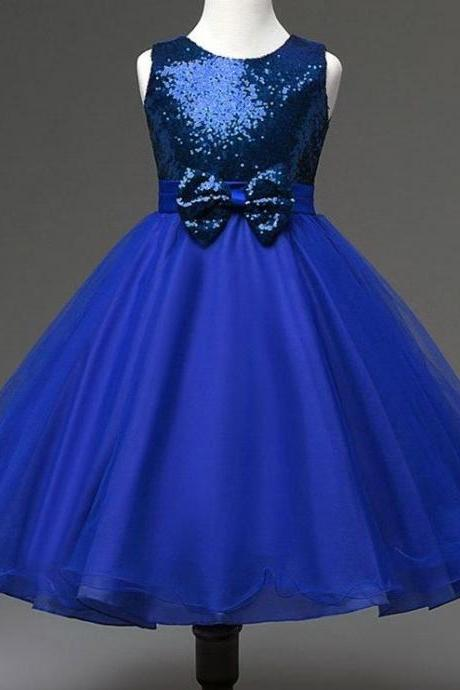 81aa114bef Sequined Infant Girls Dresses Royal Blue Dress for Girls Pageant Birthday  Party Tutu Dress