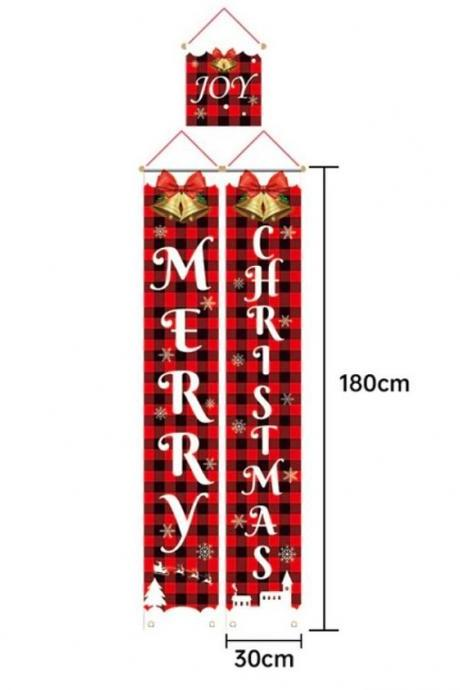 Merry Christmas Hanging Decoration Christmas Banners Door Step Nutcracker Soldier Banner Christmas Decor For Home