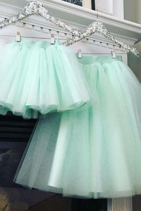 Mintgreen Skirts Mother and Daughter Tutu Skirts Cute Props Photo Session for Girls