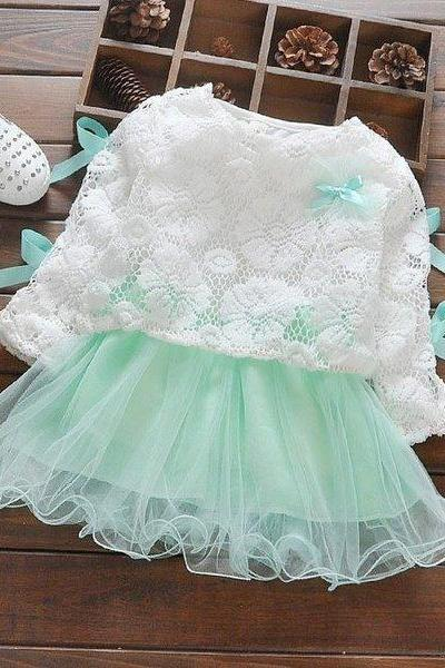 Mint Green Tutu Dress for Toddler Girls-Tutu Dress-Summer Lace-Ready for Shipping