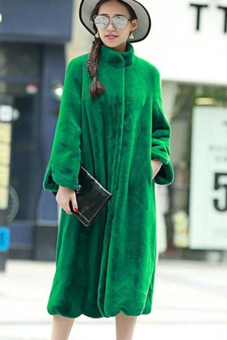 RSSLyn Winter Green Trench Coats for Women Plus Size Clothing Thick and Warm Christmas Overcoats Christmas Gift for Mother in Law-Christmas Free Designer Brooch