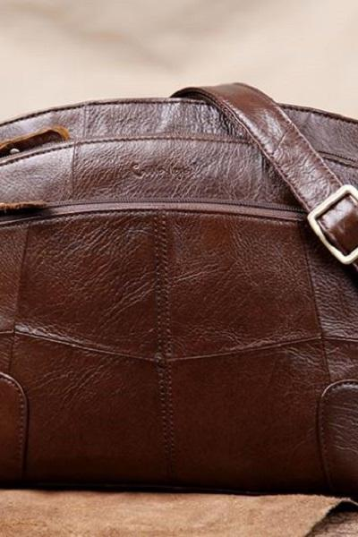 Rsslyn Now SALE Brown Leather Bags Many Pockets Real Leather Bags for Women Durable Convertible Small Bags