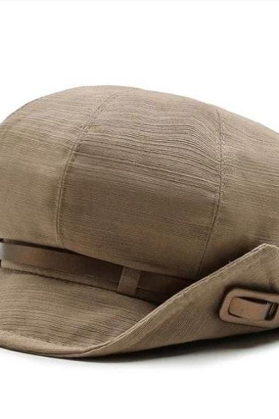 RssLyn High-Quality Unisex Newsboy Cap Trendy Beret for Women and Men's Caps Bowler Hats