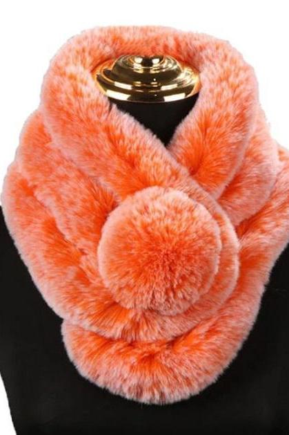 Rsslyn Orange Scarves Expandable and Very Soft Warm Neck Warmer for Women Elegant and Cozy