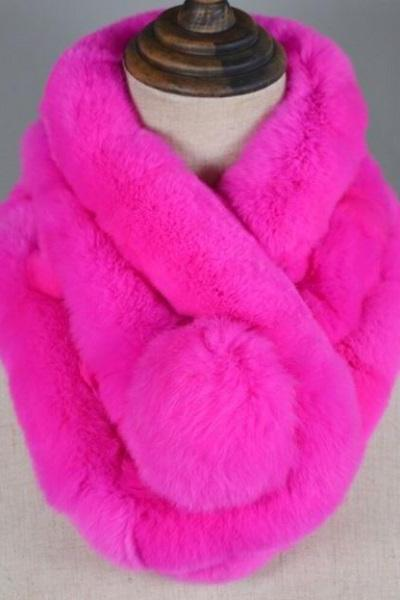 Rsslyn Bright Hotpink Scarves Expandable and Very Soft Warm Scarf for Women Elegant and Cozy