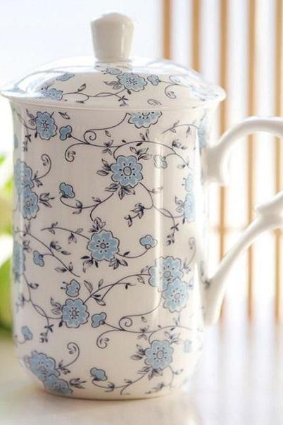 Rsslyn 320ml Real Bone China Soup Cup with Lid Kitchen Collection