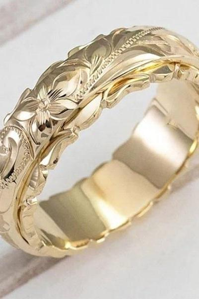 Rsslyn Classic Rings for Women RSS2262021-18 High-Quality Bridal Rings Timeless Golden Rings for Women