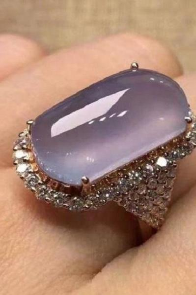 Rsslyn Vintage Cocktail Rings for Women Trendy Fashion Ring RSS4-2272021 Violet Color