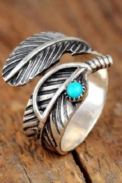Rsslyn Rings for Women RSS10-2282021 Wholesale Turquoises Thumb Ring Adjustable Boho Party Fashion Jewelry Rings