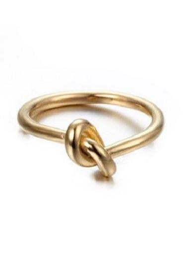Rsslyn Solid Gold Rings Knot Midi Style RSS2-3012021 New Trendy Rings Minimalist Lady Ring