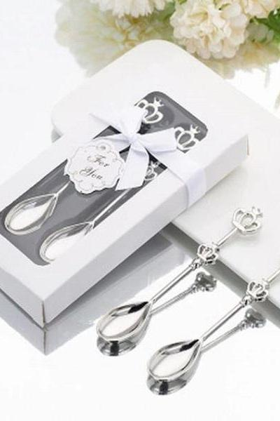 Rsslyn 2pcs/SET Royal Spoons Stainless Steel Spoons RSS17-352021 RudelynsSariSariStore.com Silver Spoons Wedding Gifts