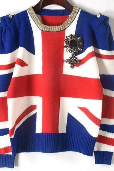 Rsslyn Fashion and Luxury Sweaters England Cropped Sweater United Kingdom Love Sweaters