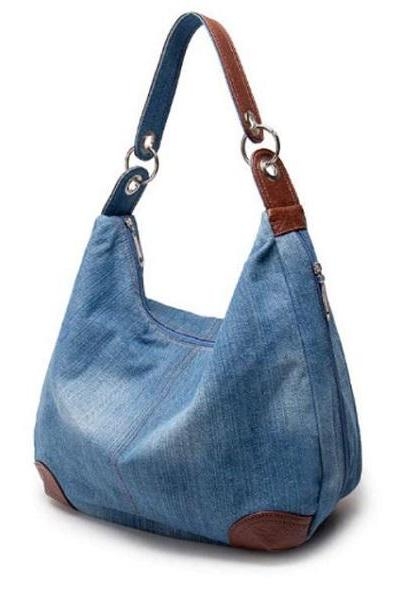 Rsslyn Fashion Denim Bags Underarm Shoulder Bags for Women