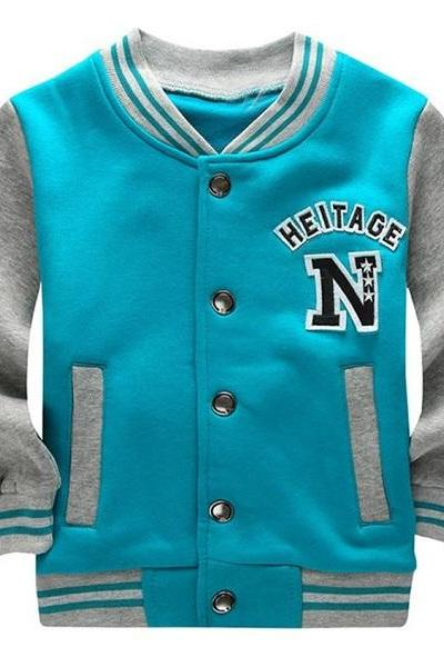 Rsslyn Turquoise Blue Sports Jackets for Boys