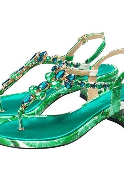 Rsslyn Size 6 Shoes Banana Leaves Fashion Designer Sandals