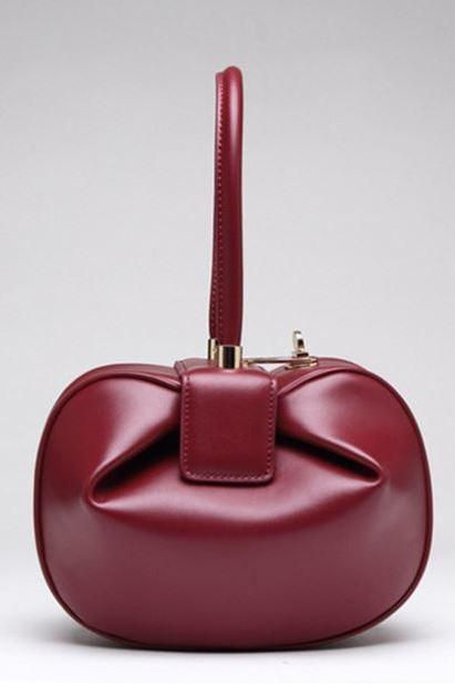 Burgundy Leather Bags for Women Royal Handbags Free Shipping Red Purses for Women