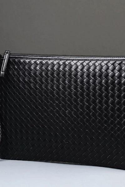 Rsslyn Black Clutch for Men Luxury Handbags Designer RSS11-362021 Black Wallet for Boys
