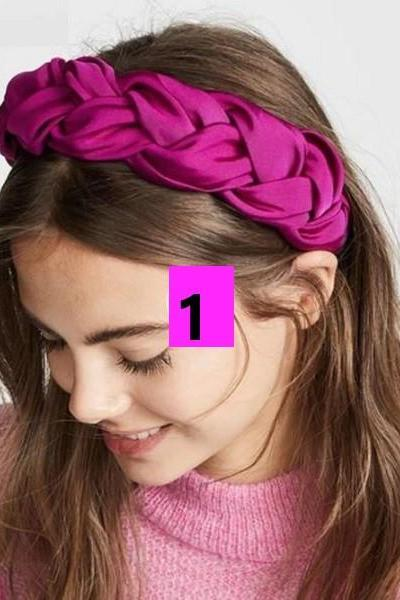 Rsslyn Hotpink Headband Braided Magenta Headpieces Casual and Formal Accessories Fixed Turban