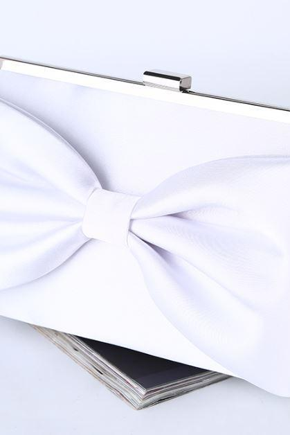 Wedding Purse White Clutch for Brides White Shoulder Bags Bridal White Purse