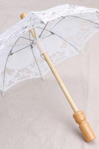Newborn White Umbrella Props Matching White Baby Headband Accessory FREE SHIPPING Umbrellas