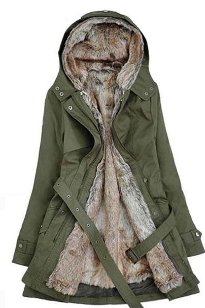Medium Size Green Parka Jacket