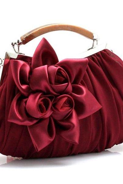 Burgundy Bags Burgundy Clutch for Women Red Clutch for Bridesmaids Handbags