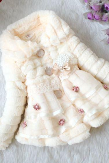 2t Peach Color Coat Super Soft Winter Jacket for Little Girls Peach Jackets