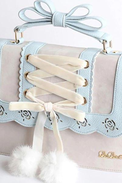 dual purpose bags for women baby blue color backpack for teenage girls turn into shoulder bags for women