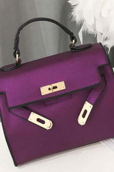 Classy Bags for Women Solid Color Purple Bags for Women Solid Color and Roomy Space Bags