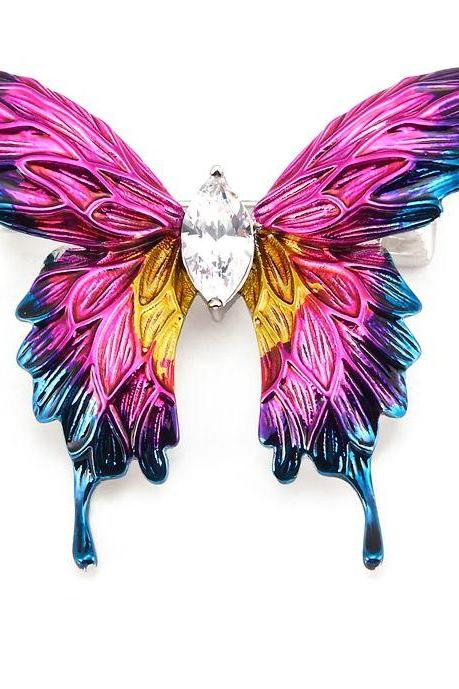 Pink Butterfly Brooch for Women Special Mothers Day Gift