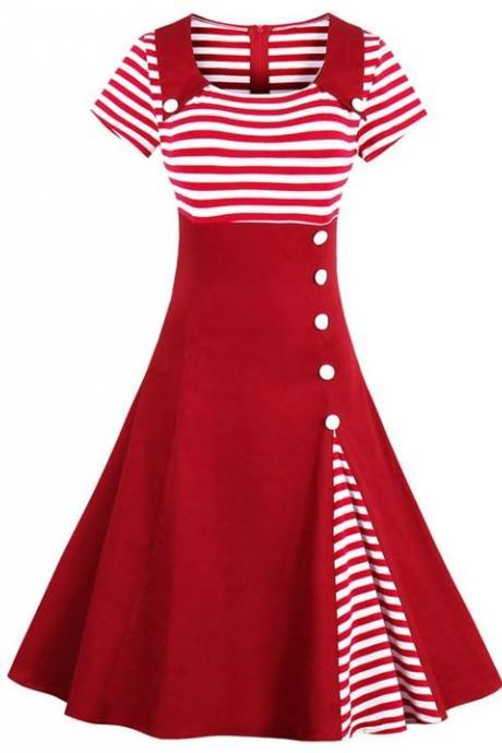 Merry Christmas Red Dress Girls Red Dress for Teenage Girls Red Dress for Women Candy Canes Stripes