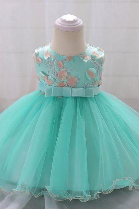 Green Dress for Girls Mint Green Summer Dress