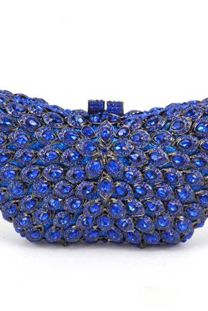 Royal Blue Clutch Wedding Accessory Bags Bridesmaids Clutch and Handbags